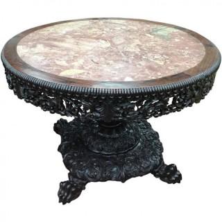Large Chinese Hardwood Table