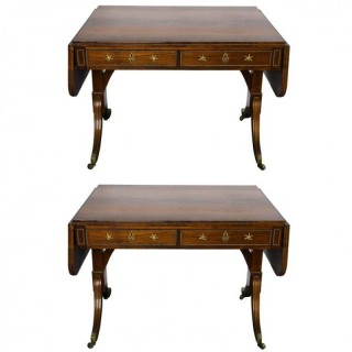 Pair Regency period Rosewood Sofa tables