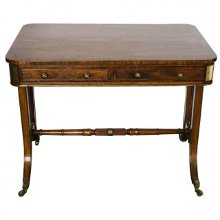 Regency period Rosewood Library table