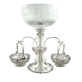 Antique Sterling Silver Mappin & Webb 14″ Centrepiece / Epergne 1916
