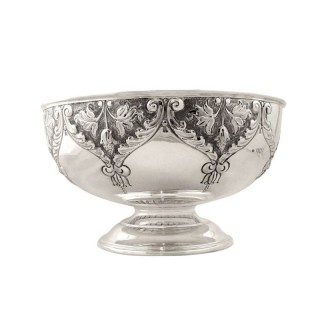 Antique Edwardian Sterling Silver 8 1/2″ Presentation Bowl 1904