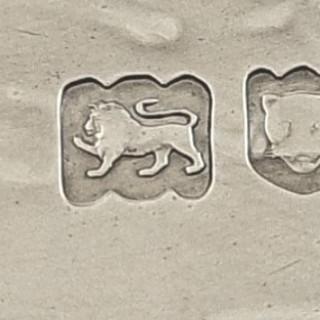 Antique Edwardian Sterling Silver Tray – 1902 – Soyez Ferme