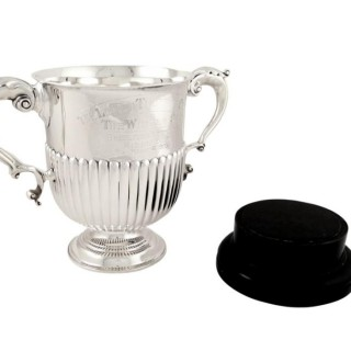 Antique Victorian Sterling Silver 10″ Trophy – London Trotting Club