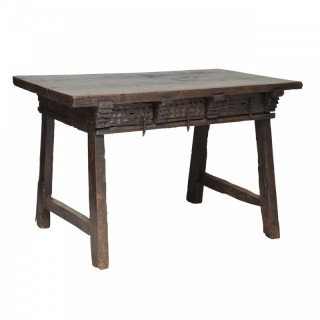 Oak table with single plank top, Spain, mid 17th century