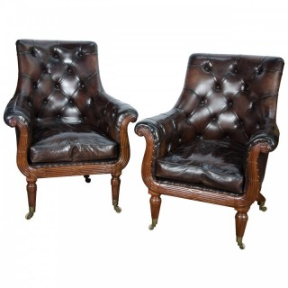 Pair Regency Library chairs