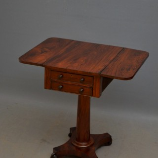 William IV Rosewood Pembroke Table
