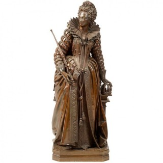 Bronze Statue of Queen Elizabeth 1 by Math. Moreau