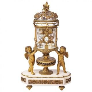 19th Century Revolving Mantel Clock