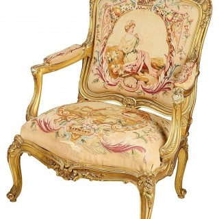 Pair of 19th Century French Salon Armchairs