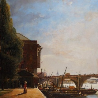 The North Bank of the Thames at Blackfriars Bridge, London