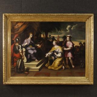18th Century Oil on Canvas Religious Italian Painting King David, 1780
