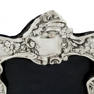 Antique Edwardian Sterling Silver Photo Frame 1905