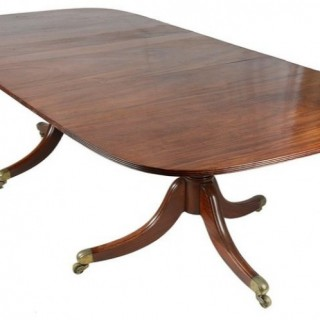 Regency Period Mahogany Twin Pedestal Dining Table