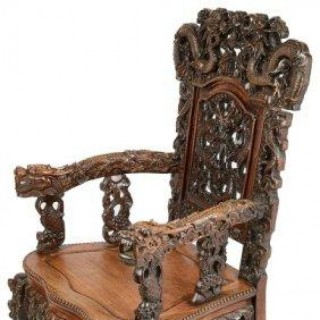 19th Century Chinese Hardwood Armchair