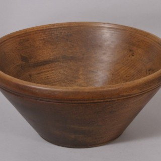 Antique Treen 19th Century Beech Culinary Bowl