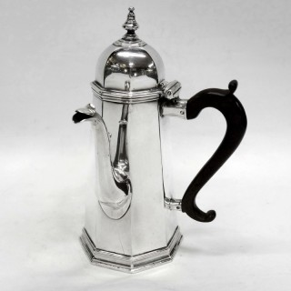Antique George I Silver Octagonal Coffee Pot