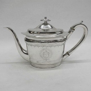 Georgian Newcastle Silver Teapot