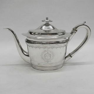 Georgian Newcastle Silver Teapot