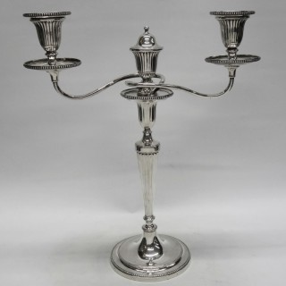 George III Silver Candelabras
