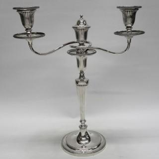 George III Silver Candelabras
