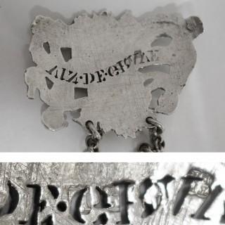 Georgian Silver Wine Label