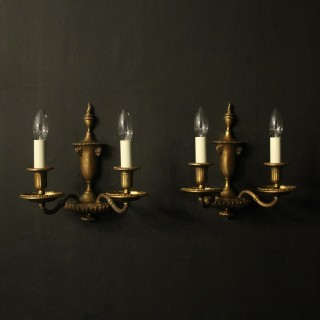 English Pair Of Faraday & Son Wall Lights