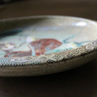 Early 20thC Enamel Painted Japanese Satsuma Stoneware Charger