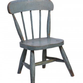 Painted beech child's spindleback chair, English, mid 20th century