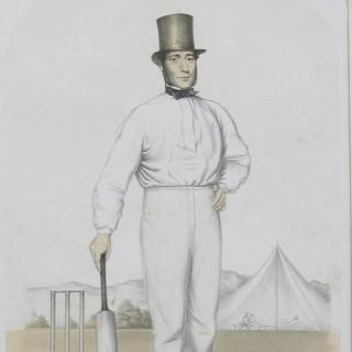 Cricket Print of Joseph Guy