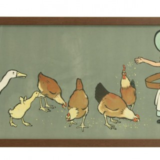 Cecil Aldin Nursery Frieze, Dinner Time