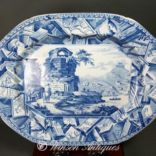 MASON'S IRONSTONE CHINA MEAT PLATTER ITALIANATE LANDSCAPE