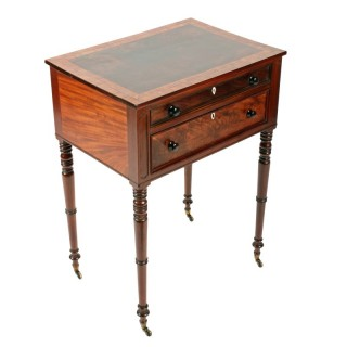 Fine Georgian Two Drawer Table