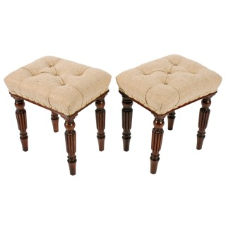 Pair of Georgian 'Gillows' Design Stools