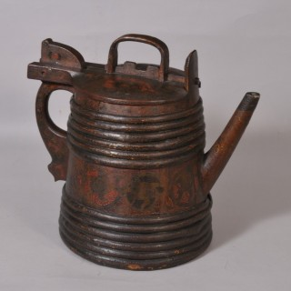 Antique Treen 19th Century Staved Pine Water Carrier