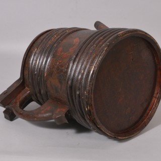 Antique Treen 19th Century Staved Pine Ale Carrier