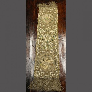 A LATE 16TH CENTURY METAL EMBROIDERED RUNNER