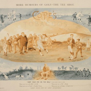 Golf Print, Cope's Tobacco. Tom Morris of St Andrews
