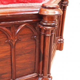 Antique Large Rosewood Centre Stool Ottoman