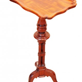 Antique 19th Century Mahogany Piecrust Wine Table