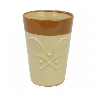 Denby Pottery Tennis Lemonade Beaker