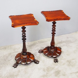 Pair of George IV Rosewood Occasional Tables