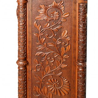 Large Oriental carvedwood fireplace