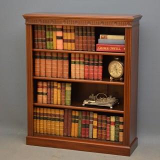 Edwardian Mahogany Open Bookcase