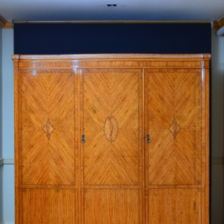 Shapland and Petter Satinwood 3 Door Wardrobe