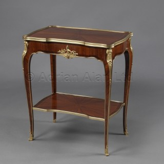 A Louis XV Style Gilt-Bronze Mounted Marquetry Salon Table
