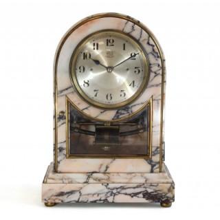 Rosa Portogallo marble Bulle Clock