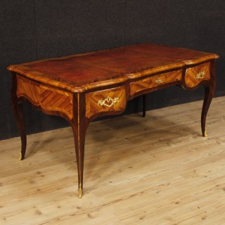 19th Century Palisander, Rosewood, Walnut French Writing Desk, 1870