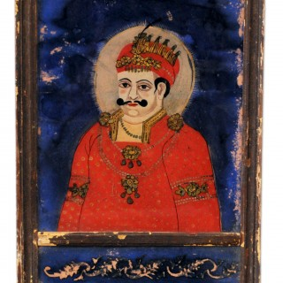 Indian reverse glass painting