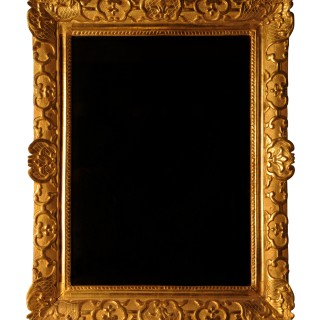 Régence giltwood mirror with mercury plate