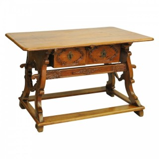 Fruitwood writing/rent table, Swiss early 18th century